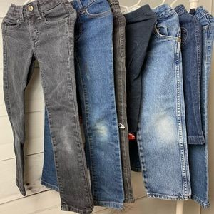 Girls Jeans Bundle 7 pairs faded glory wrangler 5T